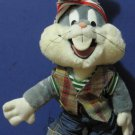 Bugs Bunny 24K Plush Doll 1993 Vintage Wearing Jeans Plaid Vest Stocking Cap