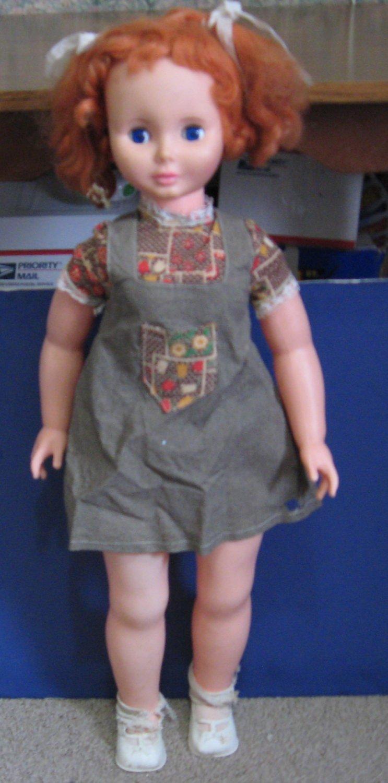 "Uneeda My Size Dress Up Doll 1973 Vintage Redhead 32"" - Needs TLC"
