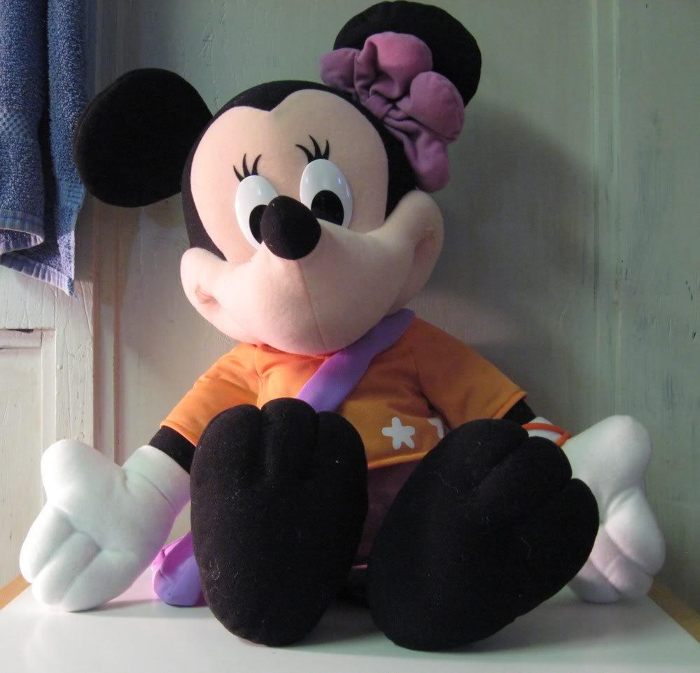 Disney Jumbo Minnie Mouse - 22 Inch Long Plush - Fisher Price - 2000 Vintage