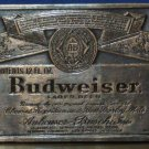 Budweiser Beer Brass Belt Buckle 3 3/4 Inches by 2 1/4 Inches