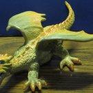"Toysmith Plastic Young Dragon Figure - Yellow Orange - 8 1/2"" - 2005"