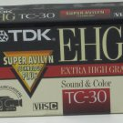 TDK TC-30 E-HG - 30 Minute VHS-C Video Camcorder Cassette Tape - New