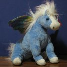 Ty Beanie Babies Plush Pegasus - Blue with Iridescent Wings 2002 - 7""
