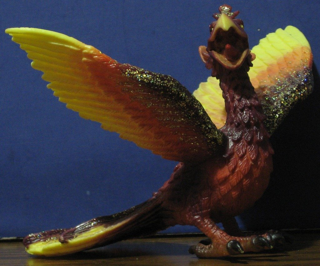 "Schleich Glittery Phoenix PVC Figure - 6"" Long / 4"" Tall 2004 World of Knights"