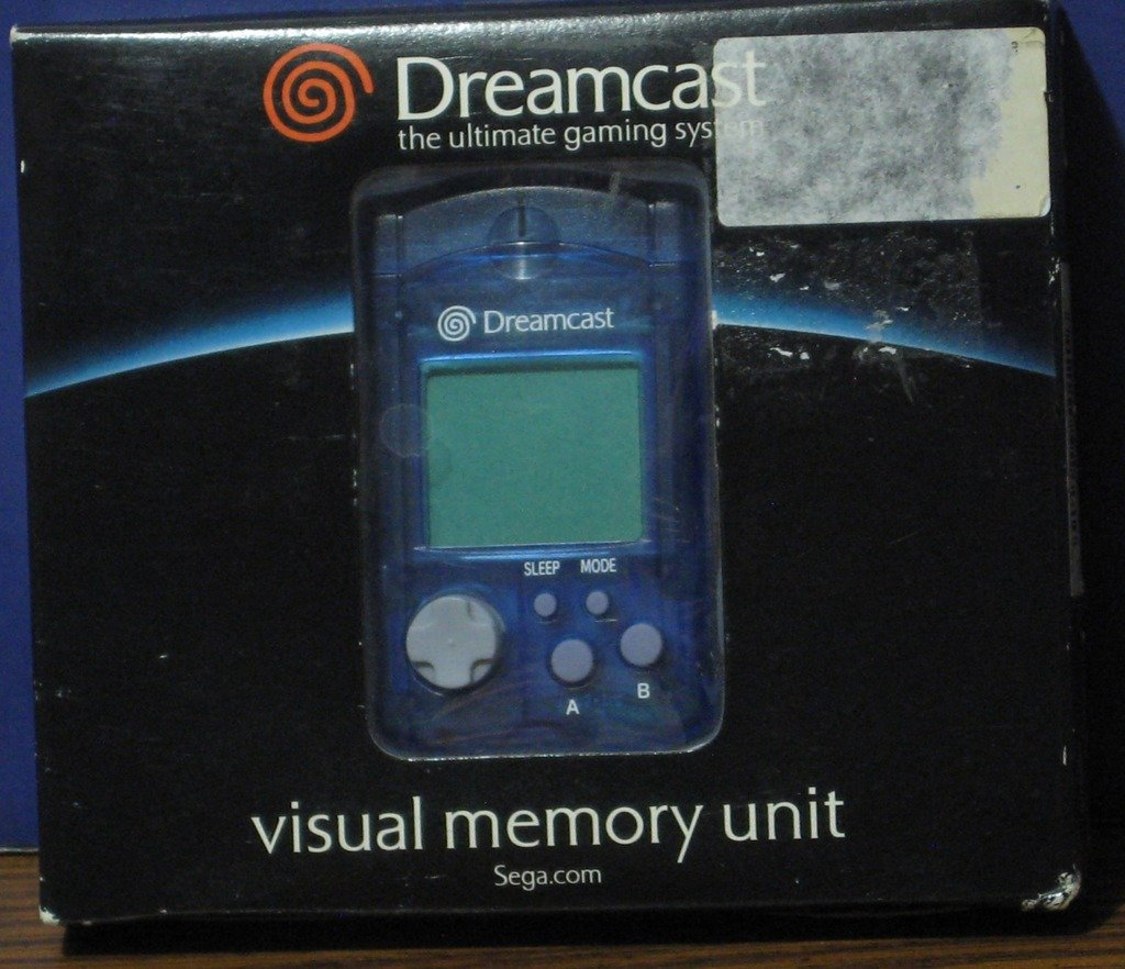 Sega Dreamcast Visual Memory Unit - Blue - New in Package - VMU - 2000 Vintage
