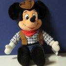 "Plush Cowboy Disney Mickey Mouse - 15"" - Tokyo Disneyland Exclusive"