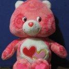 "Care Bears Tie Dye Love-a-Lot Bear 9"" Beanbag Plush - Love A Lot - 2003"