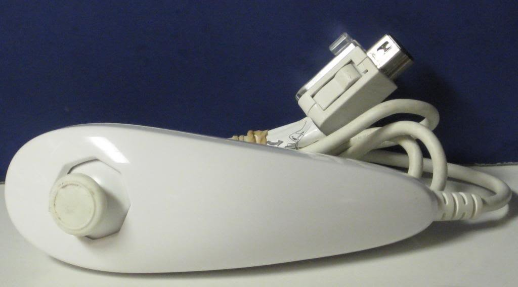 Nintendo Wii Stock White Nunchuk Controller Attachment - Nunchuck