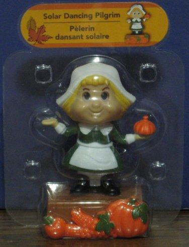Solar Dancing Pilgrim Girl Thanksgiving Light Activated Decoration - New