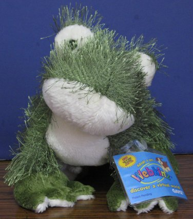 Webkinz Plush Frog - HM001 - Ganz - New With Tags and Code