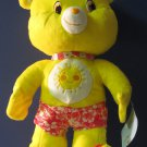 Care Bears - Plush Polystyrene 18 Inch Beach Wear Funshine Bear - 2009