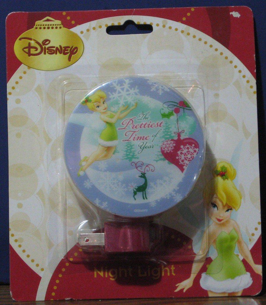 Disney Fairies Tinkerbell Christmas Holiday Night Light - New on Card