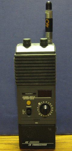 General Electric Handheld 40 Channel CB Radio 3-5979A Citizen Band Transceiver