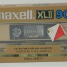 Maxell XLII 90 Minute CrO2 Audio Cassette Tape - New / Sealed - 1980s Vintage
