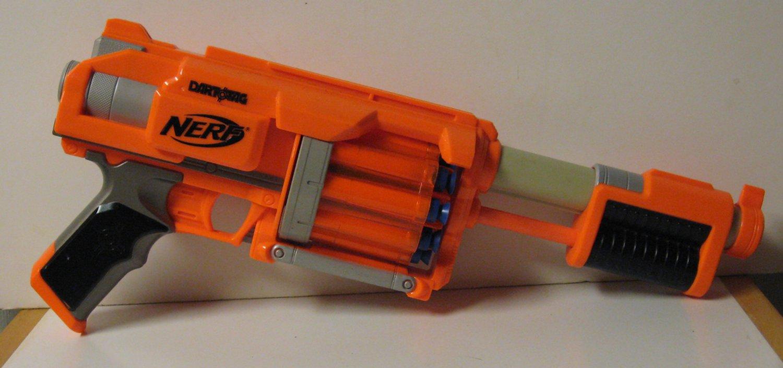 Nerf Dart Tag Fury Fire Soft Dart Gun Revolver Blaster - Orange - With 10 Darts
