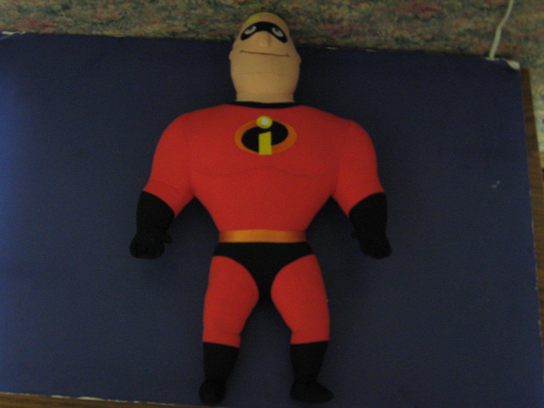 "Pixar Incredibles Talking Mister Incredible Plush Doll 20"" 2004 Hasbro Disney"