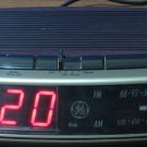 GE 7-4619A LED Digital Alarm Clock AM FM Radio with Battery Backup 1980s Vintage
