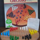 Pavilion Solid Wood Chinese Checkers 1987 Vintage Missing 1 Peg - Cardinal