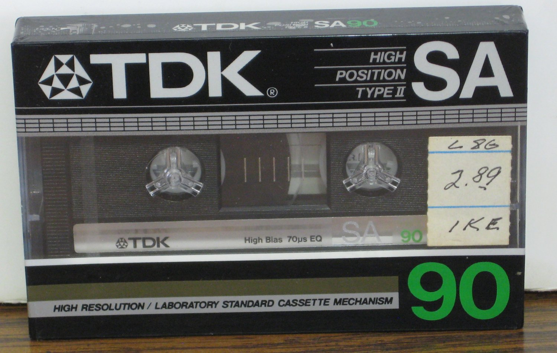 Audio Cassette Tape - TDK SA90 -  90 Minutes - 1984 Vintage
