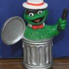 Sesame Street Music in the Park Vaudeville Oscar the Grouch PVC Figure 1980s Vtg
