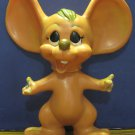 "Plastic or Vinyl 10"" Anthropomorphic Mouse Coin Bank - Roy Des 1970 Vintage"