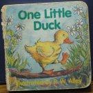 One Little Duck - Mini Cardboard Baby Book - R.W. Alley - 1995 Vintage