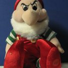 "Disney Store Grumpy Plush Christmas Dwarf Snow White 7 Dwarves 12"""