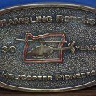 Rambling Rotors Helicopter Port 30th Anniversary Commemorative Belt Buckle 1991 Vintage