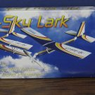 Sky Ryders 2 In 1 Skylark Biplane / Monoplane Balsa Wood Flying Glider AGI 1996 Vintage