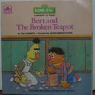 Sesame Street Bert and the Broken Teapot Golden Growing Up Book 1985 Vintage