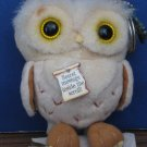 "Harry Potter Plush Alohomora Secret Message Owl Keyring - 5"" - Mattel 2001"