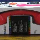 Soundlogic Retrophone Bluetooth Smartphone Handset - Red