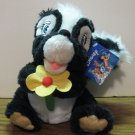"Disney Bambi Plush Flower Skunk - Toy Factory - 8"" With Tags"