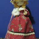 """Wind Up Music Box Doll - 13"""" - 1960s or 1970s Vintage"""
