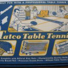 Tatco Table Tennis Box Set - 1960s Vintage - Paddles Balls Net Clamps Rules