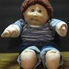 Cabbage Patch Kids Boy Doll Short Brown Hair Jeans - Coleco - 1982 Vintage