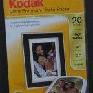 "Kodak Ultra Premium Photo Paper 20 Sheets High Gloss 4"" x 6"" - Sealed"