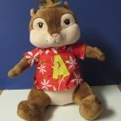 "Plush Alvin Chipmunk Hawaiian Build a Bear 12"" 2011 Chipmunks"