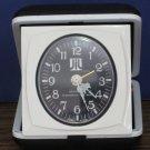 1970s / 1960s Vintage Strauss Folding Compact Travel Analog Wind Up Alarm Clock