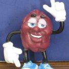 "California Raisins Rubbery Bendy Figure 2 3/4"" 1987 Vintage"
