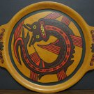 SE Overton Bentwood Wood Drinks Winged Serpent Serving Platter Mid Century 16""
