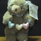 """Teddy Hugglesbie 8"""" Plush Bear 1987 Vintage Gibson Greetings - A Day in the Life"""