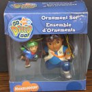 Dora the Explorer Go Diego Go Christmas Ornament Set 2007 American Greetings