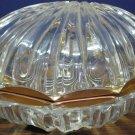 Bleikristall Lead Crystal Clam Shaped Trinket Bowl - 1980s Vintage