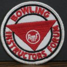 AMF League Bowling Instructors Forum Sew On Patch 1970s Vintage