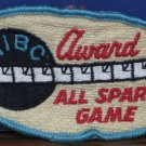 WIBC Bowling Award Sew On Patch All Spare Game 1960s / 1970s Vintage