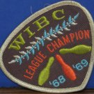 WIBC Bowling Award Sew On Patch League Champion 1968 / 1969 Vintage