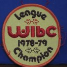 WIBC Bowling Award Sew On Patch League Champion 1978 / 1979 Vintage