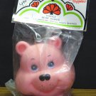 Bear Babies Plastic Pink Bear Doll Head - Darice Craft Supplies - 1984 Vintage