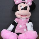 """Disney Minnie Mouse in Pink and White Polka Dot Dress - 24"""" Plush Doll - JustPlay"""